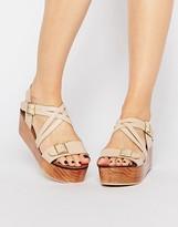 Park Lane Leather Flatform Sandals