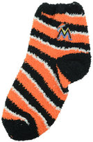 For Bare Feet Miami Marlins Sleep Soft Candy Striped Socks