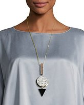 Lafayette 148 New York Long Geometric Pendant Necklace