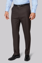 Ermenegildo Zegna Cloth Regular Fit Brown Sharkskin Trousers