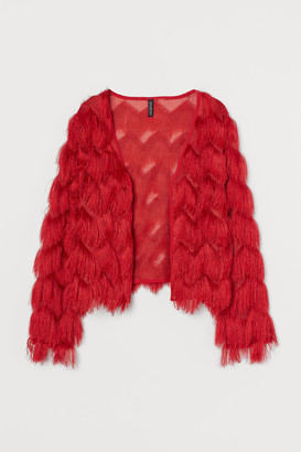 H&M Fringe-covered Cardigan