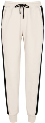 ATM Anthony Thomas Melillo Cream Striped Cotton Sweatpants