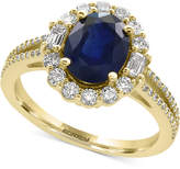 Effy Royalé Bleu by Sapphire (1-9/10 ct. t.w.) and Diamond (5/8 ct. t.w.) Ring in 14k Gold