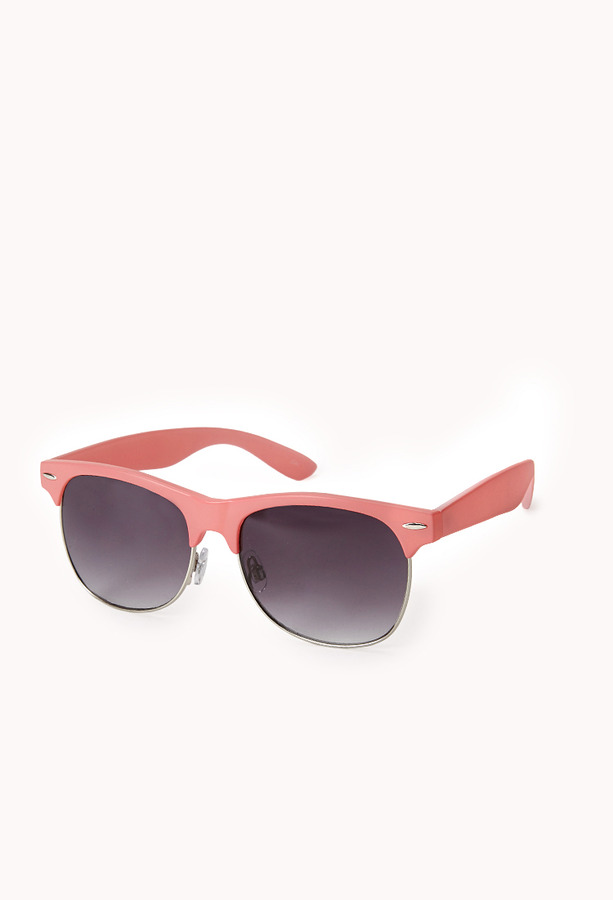 Forever 21 F1358 Half-Frame Square Sunglasses
