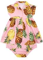 Dolce & Gabbana Pineapple Print Dress and Pant Set