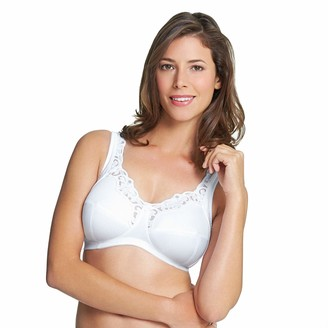 Royce Women's Rhianna Wire-Free Cotton-Lined Comfort Bra White 32DD