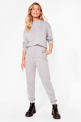 Nasty Gal Womens Hold It Together Sweat and Jogger Set - Grey - 8