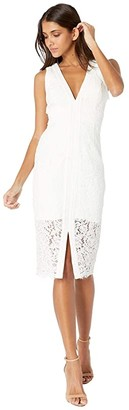 Bardot Halter Lace Dress (Ivory) Women's Dress