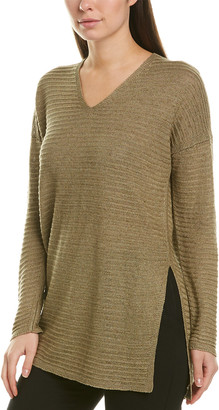 Lafayette 148 New York High Slit Tunic Sweater