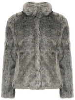 """Oasis TILLY FAUX FUR COAT [span class=""""variation_color_heading""""]- Mid Grey[/span]"""