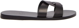 Ancient Greek Sandals Desmos Leather Slides - Womens - Black