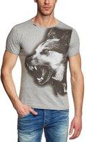 Cipo & Baxx Men's Short Sleeve T-Shirt - Grey Grau (GREY MELANGE) -