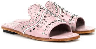 Tod's Embellished leather slides