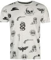 Firetrap Blackseal AOP Vintage T Shirt
