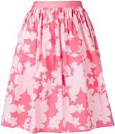 Emporio Armani gathered floral-print skirt