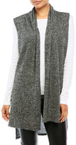 in cashmere Marled Knit Hi-Low Cashmere Vest