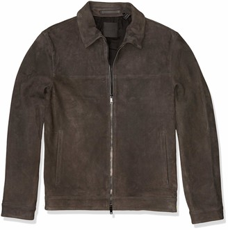 Theory Men's Roscoe Suede Leather Jacket
