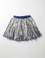 Boden Metallic Pleat Skirt