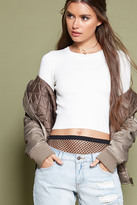 Forever 21 FOREVER 21+ Cropped Ribbed Sweater