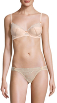 Mimi Holliday Toffee Dazzler Fully Padded Super Plunge Bra