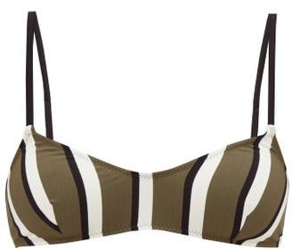 Solid & Striped Rachel Striped Bikini Top - Green Stripe