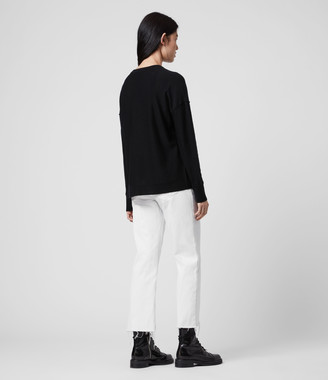 AllSaints A Saints Bleach Merino Wool Crew Sweater