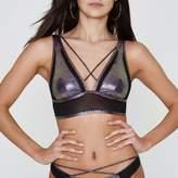 River Island Womens Purple mermaid strappy triangle bikini top