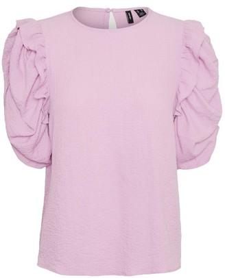 Vero Moda Volume Sleeve Top Lilac - XS (6)