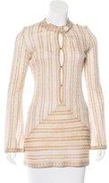 M Missoni Striped Metallic Tunic