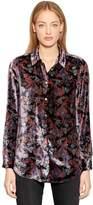 Equipment Essential Printed Velvet Shirt