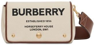 Burberry Hackberry Logo Printed Canvas Bag
