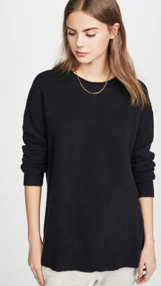 James Perse Oversized Crew Neck Cashmere Sweater