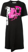 McQ by Alexander McQueen print T-shirt dress - women - Cotton - M