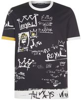 Dolce & Gabbana Royal Graffiti Print T-shirt
