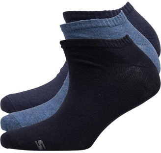 Skechers Womens Three Pack Basic Sneaker Socks Denim Melange