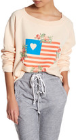 Wildfox Couture Granny&s Flag Cropped Sweatshirt