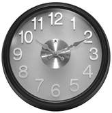 Infinity Instruments The Onyx Round Wall Clock Black/Silver