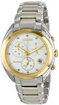 Citizen Eco-Drive Women's FB1394-52A Celestial Analog Display Two Tone Watch