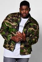 boohoo Big And Tall Camo Field Jacket