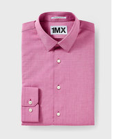 Express slim fit textured 1MX shirt