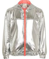 River Island Girls RI Active Silver hooded bomber jacket