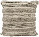 Joseph Abboud Loop Cut Square Throw Pillow in Grey