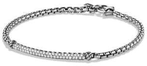 David Yurman Petite Pave Bar Bracelet With Diamonds, 3Mm