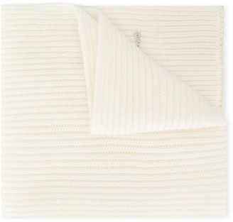 Simonetta TEEN ribbed cashmere scarf