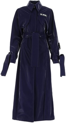 Off-White Belted Long-Line Trench Coat