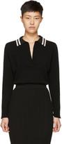 Lanvin Black Long Sleeve Wool Polo