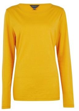 Dorothy Perkins Womens Tall Yellow Long Sleeve Top, Yellow