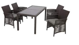 Bronx Ivy Resaca Backyard 5 Piece Dining Set with Cushions Ivy Color: Chocolate