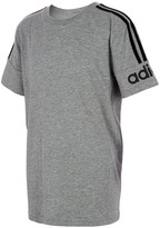 adidas Boys' Tee Shirts GRY - Heather Gray Core 3S Tee - Boys