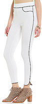 Hue Piped High-Waist Ponte Skimmer Leggings